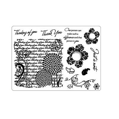 Creative Expressions™ Unmounted Rubber Stamp Set - Artsy Floral