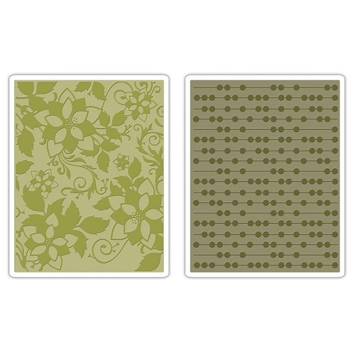 Sizzix® Textured Impressions™ Embossing Folder Set 2PK - Dots & Flowers #2 by Basic Grey™