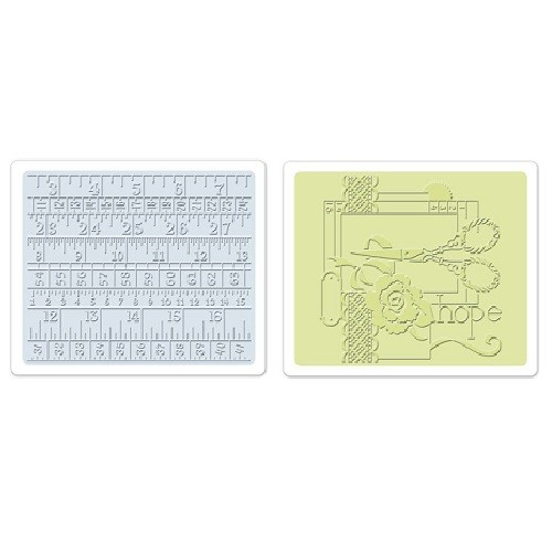 Sizzix Sewing//Measuring Tape Textured Impressions Embossing