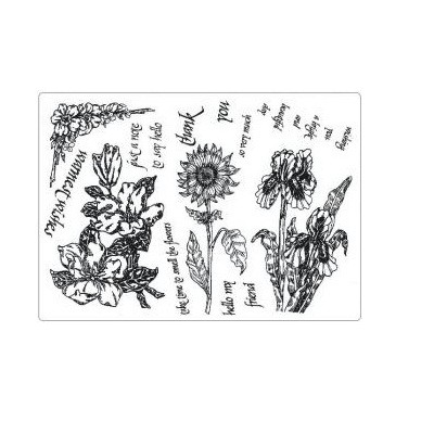 Creative Expressions™ Unmounted Rubber Stamp Set - Natures Botanicals