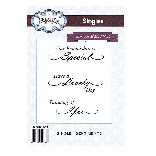 Creative Expressions Singles Stamps - Single Sentiments by Sam Poole