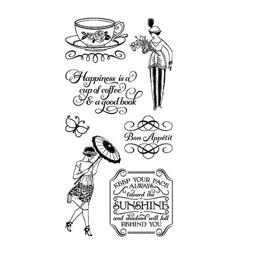 Graphic 45 Cling Mounted Stamp Set - Cafe Parisian #3