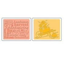 Sizzix® Textured Impressions™ Embossing Folder Set 2PK - Autumn Sunflowers by Rachael Bright™