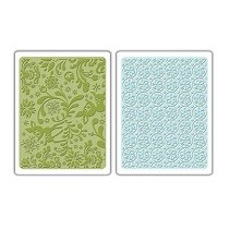 Sizzix® Textured Impressions™ Embossing Folder Set 2PK - Dearly & Frost by Basic Grey™