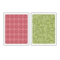 Sizzix® Textured Impressions™ Embossing Folder Set 2PK - Sugar & Starry Night by Basic Grey™