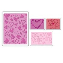 Sizzix® Textured Impressions™ Embossing Folder Set 4PK - Valentine #4 by Rachael Bright™