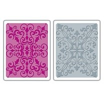Sizzix® Textured Impressions™ Embossing Folder Set 2PK - Damask by Rachael Bright™