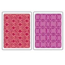 Sizzix® Textured Impressions™ Embossing Folder Set 2PK - Flower Vine & Twizzle by Dena Designs™