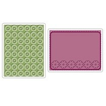 Sizzix® Textured Impressions™ Embossing Folder Set 2PK - Cornflowers & Posies by Brenda Pinnick™