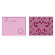 Sizzix® Textured Impressions™ Embossing Folder Set 2PK - Love #3 by Brenda Pinnick™