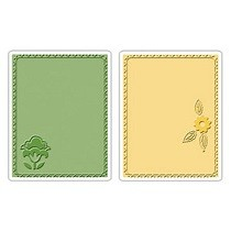 Sizzix® Textured Impressions™ Embossing Folder Set 2PK - Folksy Fun Posey by Brenda Pinnick™