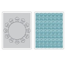 Sizzix® Textured Impressions™ Embossing Folder Set 2PK - Folksy Circle & Fun by Brenda Pinnick™