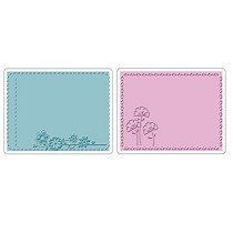 Sizzix® Textured Impressions™ Embossing Folder Set 2PK - Garden Flowers by Brenda Pinnick™