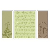 Sizzix® Textured Impressions™ Embossing Folder Set 3PK - Season's Greetings by Rachael Bright™
