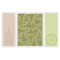 Sizzix® Textured Impressions™ Embossing Folder Set 3PK - Birthday #5 by Rachael Bright™
