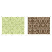Sizzix® Textured Impressions™ Embossing Folder Set 2PK - Christmas Elegance by Rachael Bright™