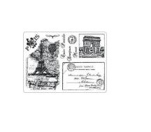 Creative Expressions™ Unmounted Rubber Stamp Set - Carte Postal