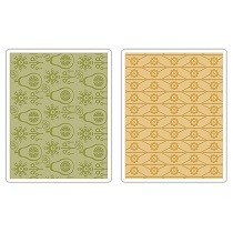 Sizzix® Textured Impressions™ Embossing Folder Set 2PK - Flowers & Pears by Basic Grey™