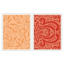 Sizzix® Textured Impressions™ Embossing Folder Set 2PK - Thickets & Swirls by Dena Designs™