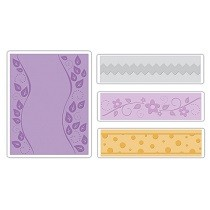 Sizzix® Textured Impressions™ Embossing Folder Set 4PK - Dots, Flowers & Rick-Rack by Eileen Hull™