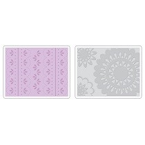 Sizzix® Textured Impressions™ Embossing Folder Set 2PK - Lace by Eileen Hull™
