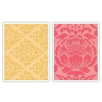 Sizzix® Textured Impressions™ Embossing Folder Set 2PK - Baroque & Flowertopia by Dena Designs™
