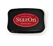 StazOn Blazing Red Solvent Ink Pad