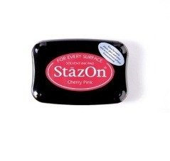 StazOn Cherry Pink Solvent Ink Pad