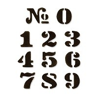 Sizzix™ Movers & Shapers Die Set (11pcs) - Cargo Stencil Number Set  By Tim Holtz®
