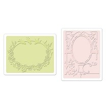 Sizzix® Textured Impressions™ Embossing Folder Set 2PK - Birds & Garden Gate by Debi Adams™