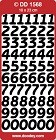Pinflair Peel Off Sheet - Numbers Large (Silver)