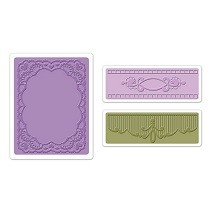 Sizzix® Textured Impressions™ Embossing Folder Set 3PK - Oval Lace by Debi Adams™