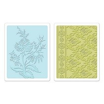 Sizzix® Textured Impressions™ Embossing Folder Set 2PK - Beatnik Bouquet by Rachael Bright™