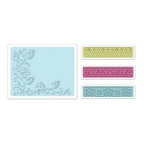 Sizzix® Textured Impressions™ Embossing Folder Set 4PK - Peacock Vine by Rachael Bright™