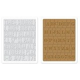 Texture Fades™ Embossing Folders 2PK -Subway & Stencil Set By Tim Holtz