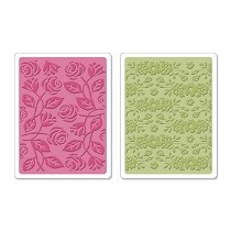 Sizzix® Textured Impressions™ Embossing Folder Set 2PK - Garden by Scrappy Cat™