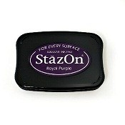 StazOn Royal Purple Solvent Ink Pad
