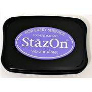 StazOn Vibrant Violet Solvent Ink Pad