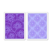 Sizzix® Textured Impressions™ Embossing Folder Set 2PK - Courtyard & Medallion by Scrappy Cat™