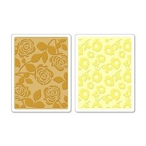 Sizzix® Textured Impressions™ Embossing Folder Set 2PK - Pom-Poms & Roses by Scrappy Cat™
