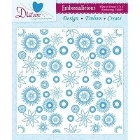 8in x 8in Embossalicious Embossing Folder by Crafter's Companion - Flower Power