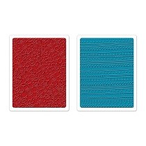Sizzix® Textured Impressions™ Embossing Folder Set 2PK - Borders & Flowers by Stephanie Ackerman™