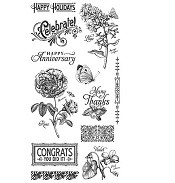 Graphic 45 Cling Mounted Stamp Set - Time to Flourish Set 2