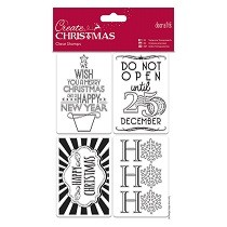 DoCrafts® Create Christmas Collection - 135mm x 195mm Mini Clear Stamps, Gift Tags