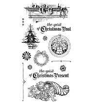 Graphic 45 Cling Mounted Stamp Set - A Christmas Carol Set #2