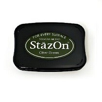 StazOn Olive Green Solvent Ink Pad