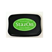 StazOn Cactus Green Solvent Ink Pad