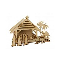 Creative Expressions® MDF Project Pack - 30 Piece Nativity Set