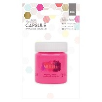 Papermania® Capsule Collection, Geometric Neon - Fabric Paint, Pink