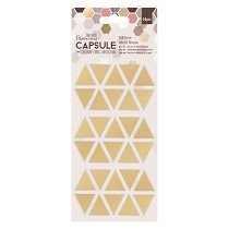 Papermania® Capsule Collection, Geometric Mocha - Adhesive Mirror Shapes, Triangles (30pcs)